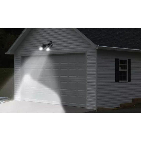 Solar Pir Activated Twin-Head Solar Security Light-Daily Steals
