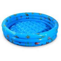 Inflatable Kids Swimming Pool with Plug, 51