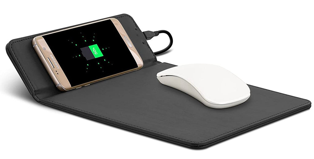 Aduro Wireless Charging Mouse Pad For All Qi Enabled Devices-Black-Daily Steals