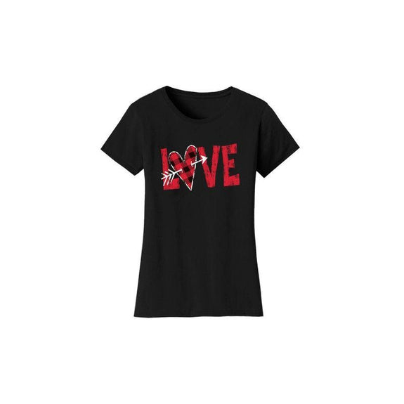 "Women's ""The Sweetest Valentine's Day Ever"" Shirts and Tops-M-T-Shirts - Cupid Love - Black-Daily Steals"