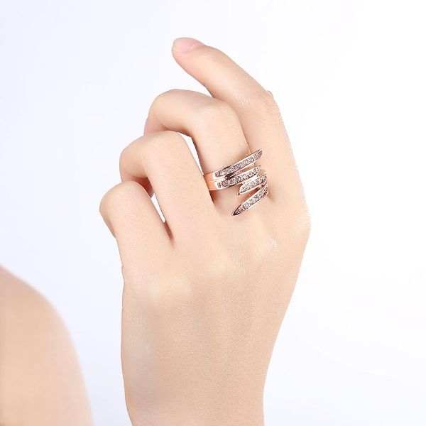 Ariana Pave Wrap Around Ring Made with Swarovski Crystals-Daily Steals