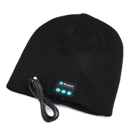 Unisex Wireless Bluetooth Beanie Hat with Comfortable Knit Material