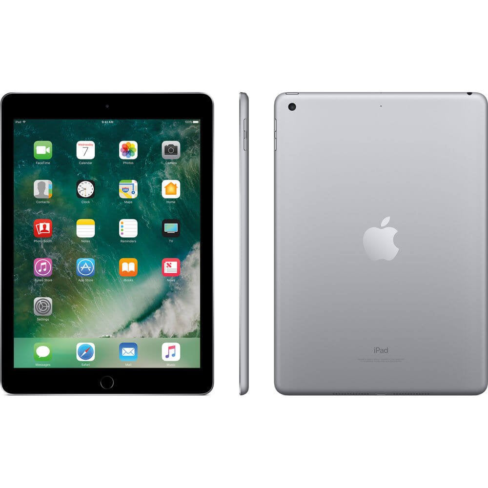 "Daily Steals-Apple 9.7"" iPad - 2017, Wi-Fi Only-Tablets-Space Gray-32GB-"