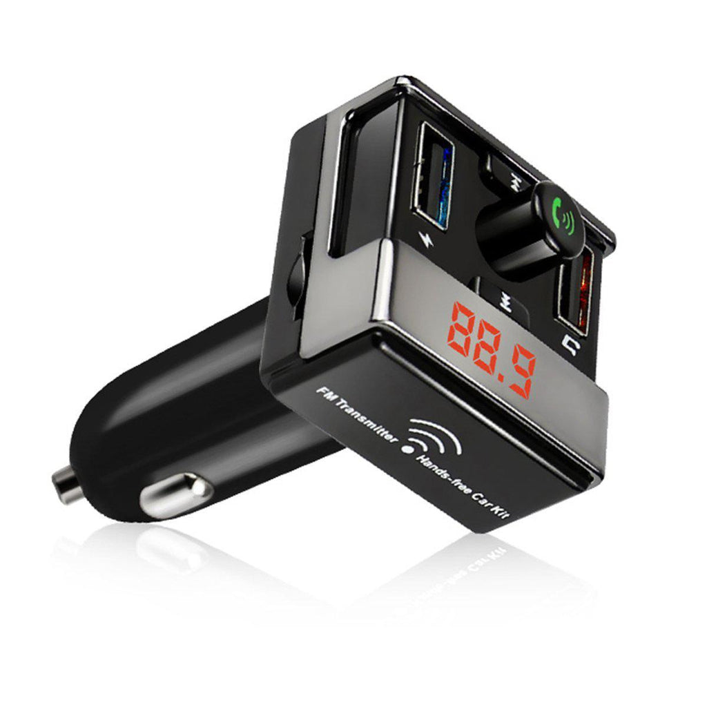 iSunnao FM Transmitter Bluetooth Wireless Radio Adapter Car Kit-Daily Steals