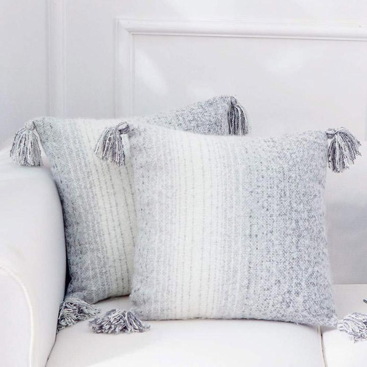 update alt-text with template Daily Steals-Super Soft Gray Ombre Throw Pillows - 2 Pack-Home and Office Essentials-
