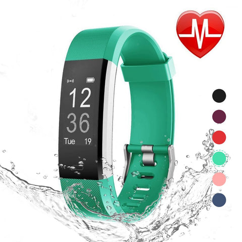 Daily Steals-Fitness Tracker with Blood Pressure, Heart Rate Monitor and Color Display-Fitness and Wellness-Green-
