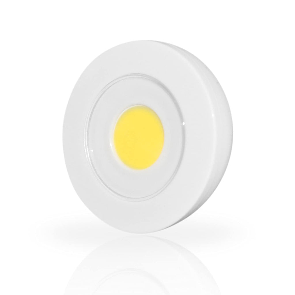 "update alt-text with template Daily Steals-LED Light - Wireless, Remote Control, 4"" Diameter, Battery Operated, White-Home and Office Essentials-"