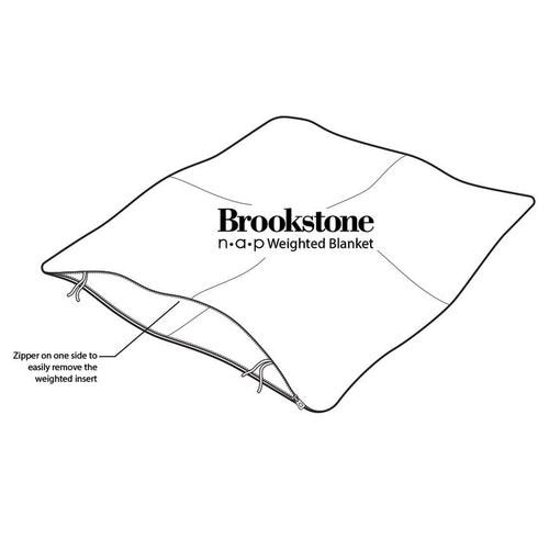Daily Steals-Brookstone Nap Weighted Blanket, One Size-Other-Taupe-