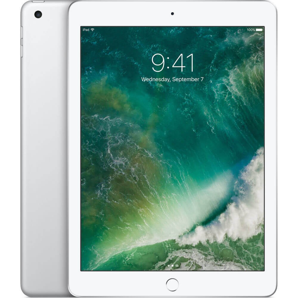 "Daily Steals-Apple 9.7"" iPad - 2017, Wi-Fi Only-Tablets-Silver-128GB-"