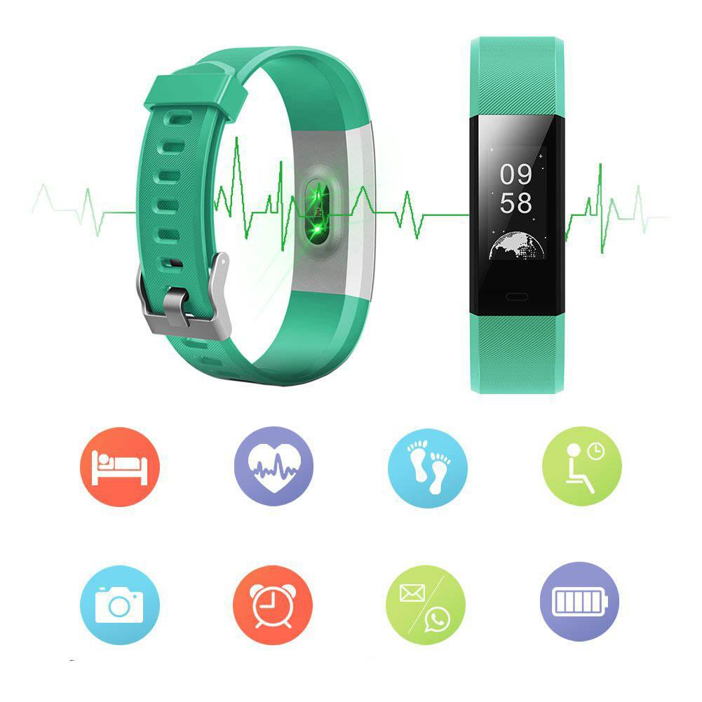 Fitness Tracker with Blood Pressure, Heart Rate Monitor and Color Display-Daily Steals