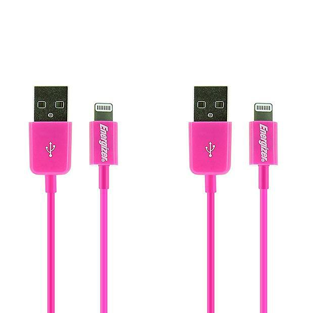 [2-Pack] Energizer High Tech Lightning to USB Charge & Sync Cable for Apple Lightning Devices - (1M / 3.3Ft)-Daily Steals