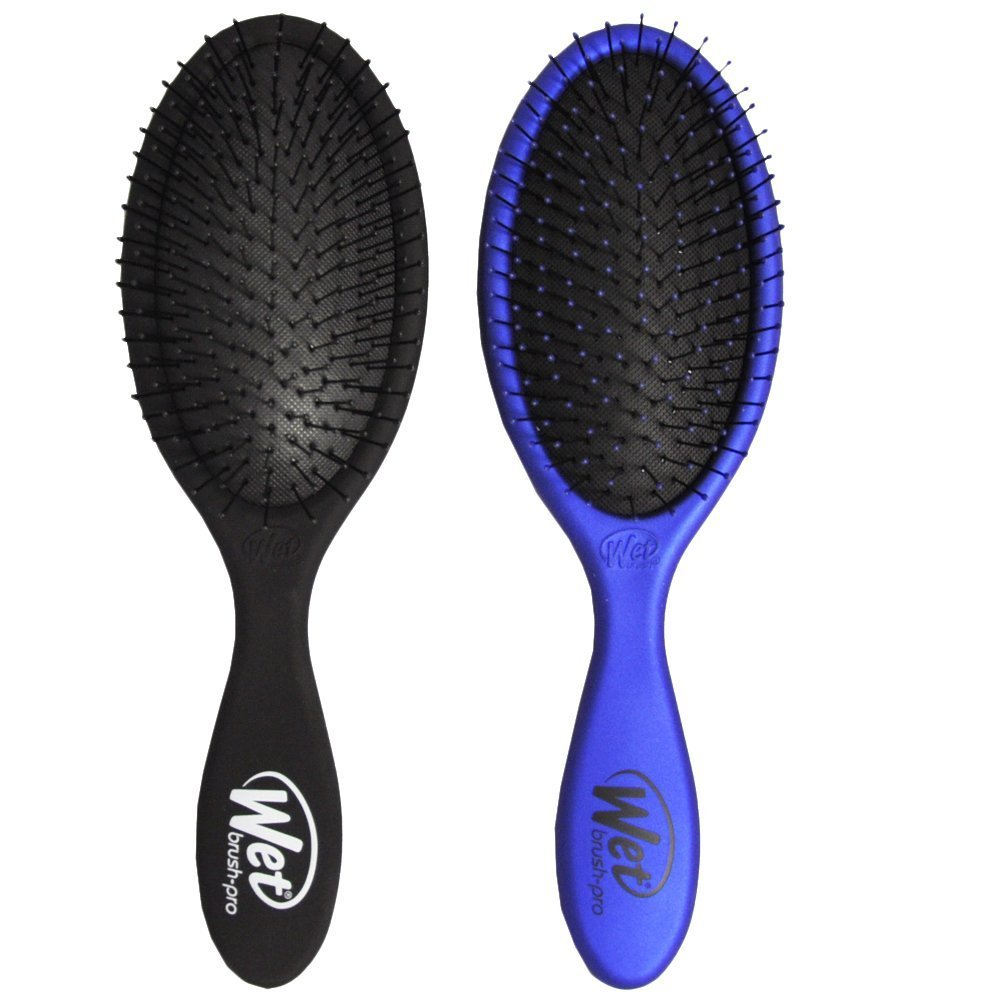 Wet Brush Original Detangler Hair Brush - 2 Pack-Black and Blue-Daily Steals