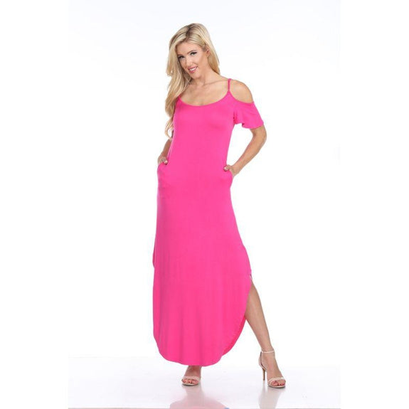 WhiteMark 'Lexi' Maxi Dress-Fuchsia-X-Large-Daily Steals