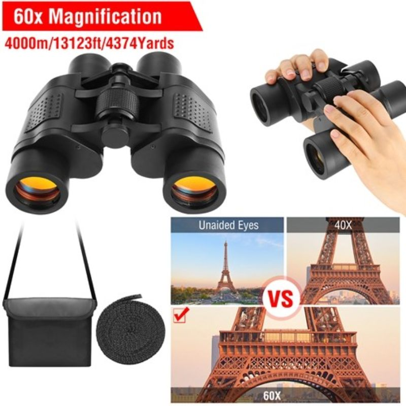 Portable HD Binoculars FMC with Shoulder Strap Bag