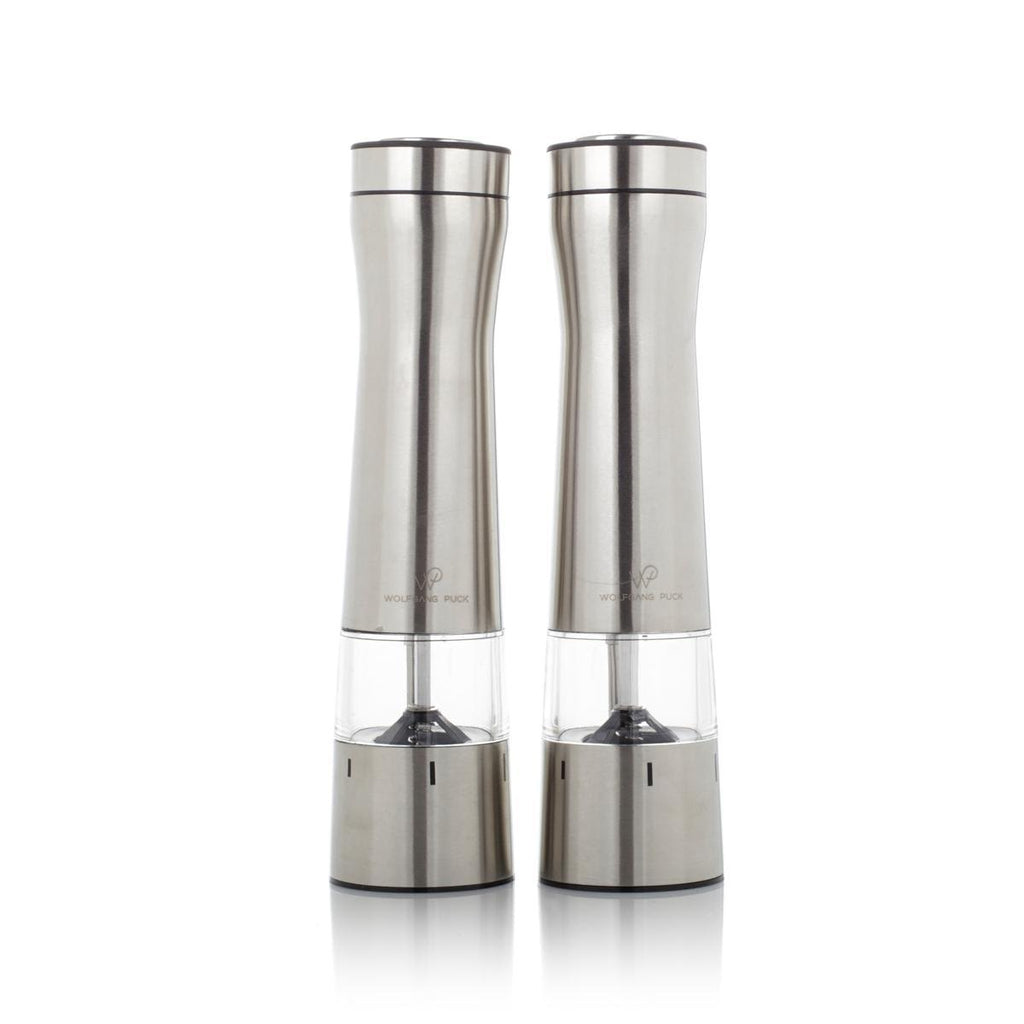 Wolfgang Puck Spice Mill Duo w/ Adjustable Grinders - Salt and Pepper-Silver-Daily Steals