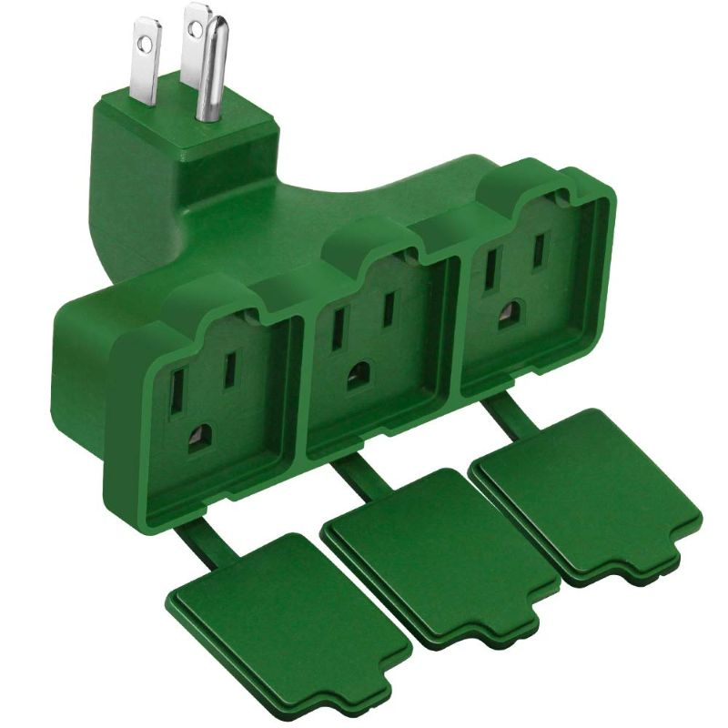 Kasonic 3-Outlet Wall Plug Adapter - 2 Pack-Daily Steals