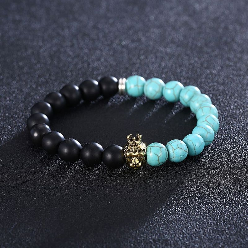 King Turquoise Chakra Stone Bracelet in 18K Gold Filled-Daily Steals