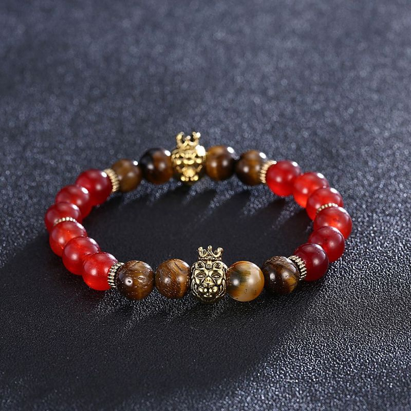 King Red Chakra Stone Bracelet in 18K Gold Filled-Daily Steals