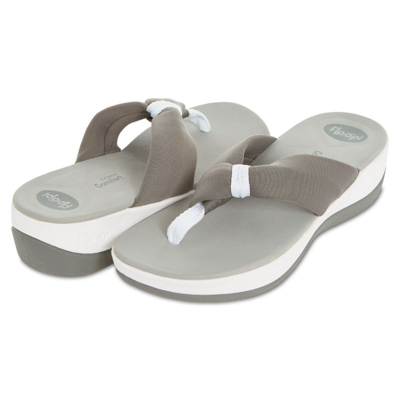 Floopi Womens Summer Extreme Comfort Thong Flip Flop Sport Sandals-Grey-10-Daily Steals