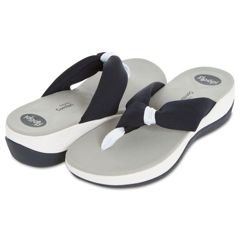 Floopi Womens Summer Extreme Comfort Thong Flip Flop Sport Sandals-Navy-10-Daily Steals
