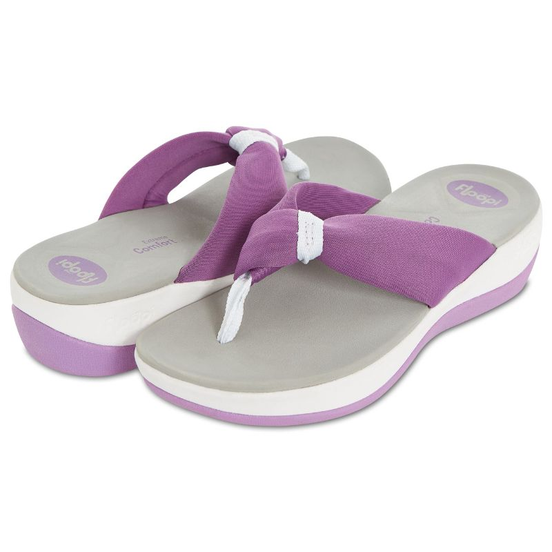 Floopi Womens Summer Extreme Comfort Thong Flip Flop Sport Sandals-Purple-10-Daily Steals