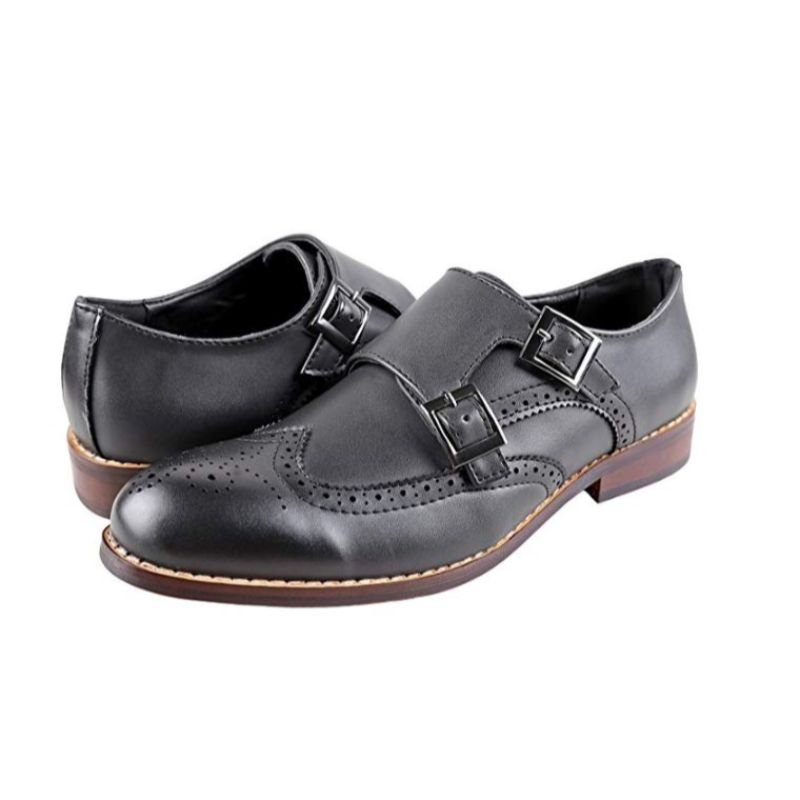 Urban Fox Everette Wingtip Men's Dress Shoe-Black-9-Daily Steals