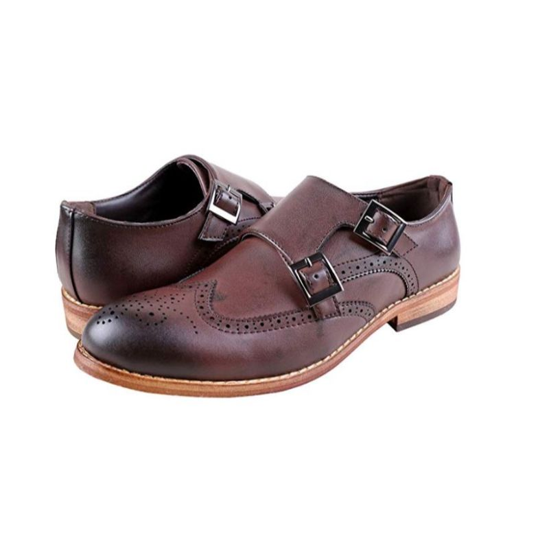 Urban Fox Everette Wingtip Men's Dress Shoe-Dark Brown-11-Daily Steals