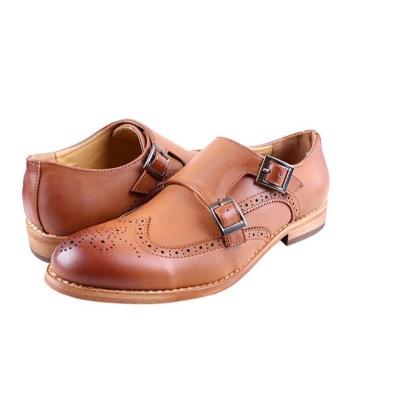 Urban Fox Everette Wingtip Men's Dress Shoe-Light Brown-10-Daily Steals