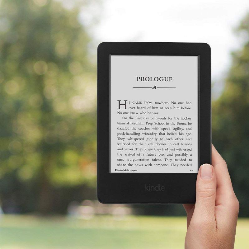 "Kindle E-reader 6"" Glare-Free Touchscreen Display Wi-Fi with Special Offers-Daily Steals"