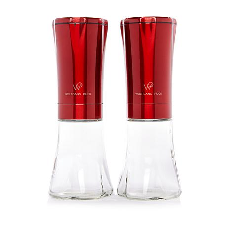 Wolfgang Puck Electric Gravity Spice Mill Set-Red-Daily Steals