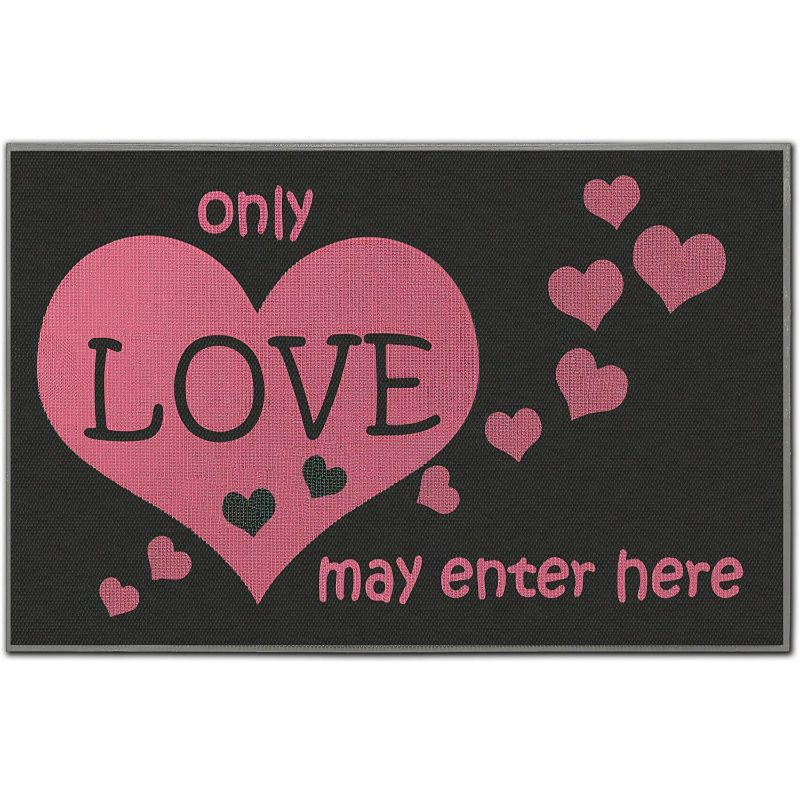 Love Print Indoor/Outdoor Welcome Mat-Daily Steals