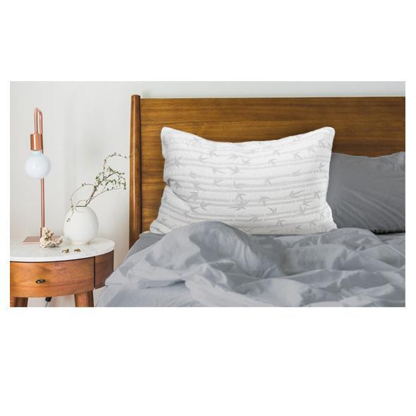 The ONLY Pillow - Bamboo Luxury QUEEN Pillow w/ Variable Fill Technology-Daily Steals
