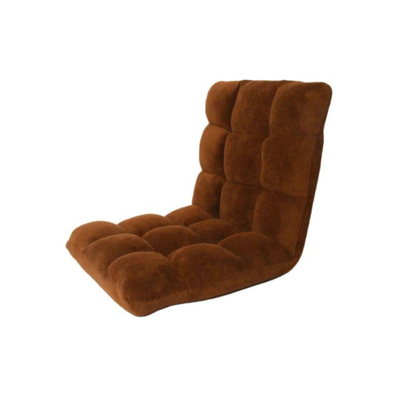 Loungie Microplush Modern Armless Quilted Recliner Chair-Brown-Daily Steals