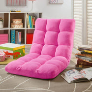 Loungie Microplush Modern Armless Quilted Recliner Chair-Daily Steals