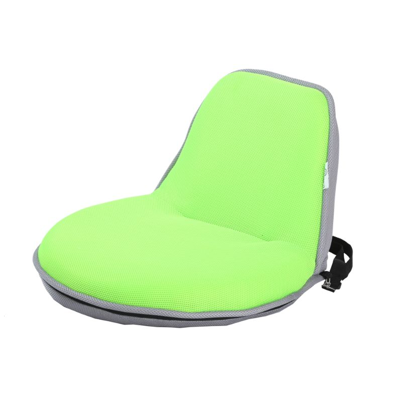Loungie Quickchair Indoor/Outdoor Portable Foldable Mesh Floor Chair-Lime/Grey-Daily Steals
