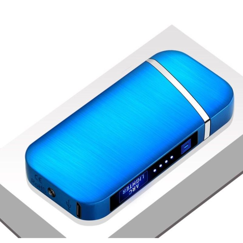 Windproof Rechargeable Slim Lighter with LED Battery Indicator-Daily Steals