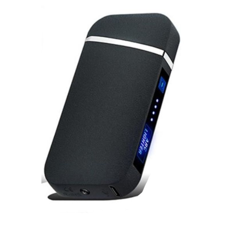 Windproof Rechargeable Slim Lighter with LED Battery Indicator-Black Mat-Daily Steals
