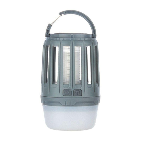 3-in-1 Waterproof Lantern Bug Zapper with 1800mAh Rechargeable Battery-Grey-Daily Steals