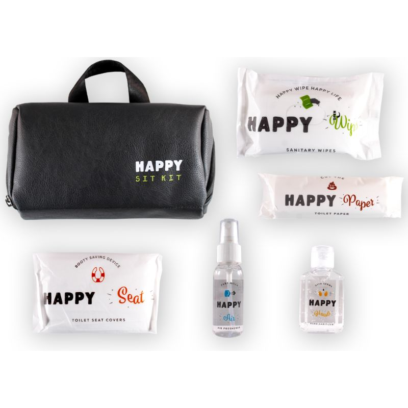 The Happy Sit Kit - All-in-one Public Bathroom Kit - Hand Sanitizer, Toilet Paper, Wipes and More-Daily Steals