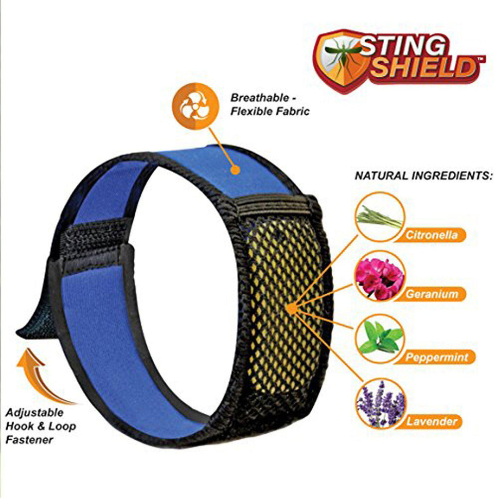 Sting Shield Best Mosquito Repellent Bracelet & Quick Clip With 4 Refills - 2 Pack-Daily Steals