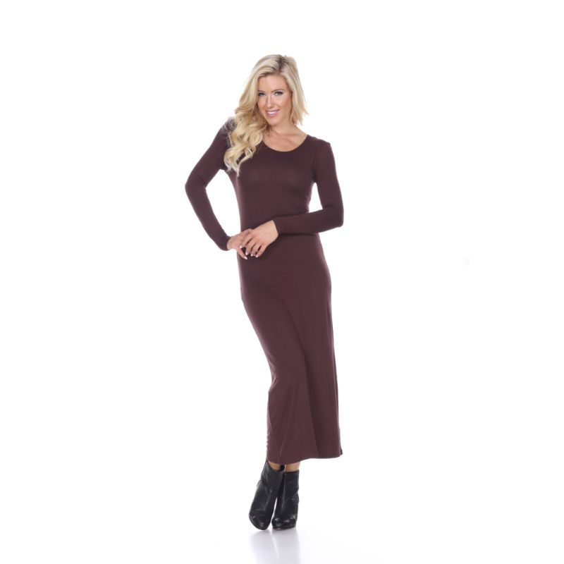 WhiteMark 'Ria' Dress-Brown-L-Daily Steals