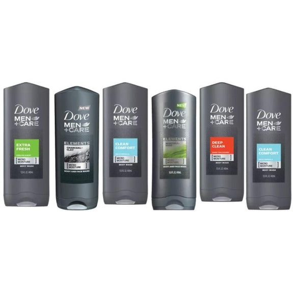 Dove Men Shower Gel 400ml (Assorted Scents) - 6 Pack-Daily Steals