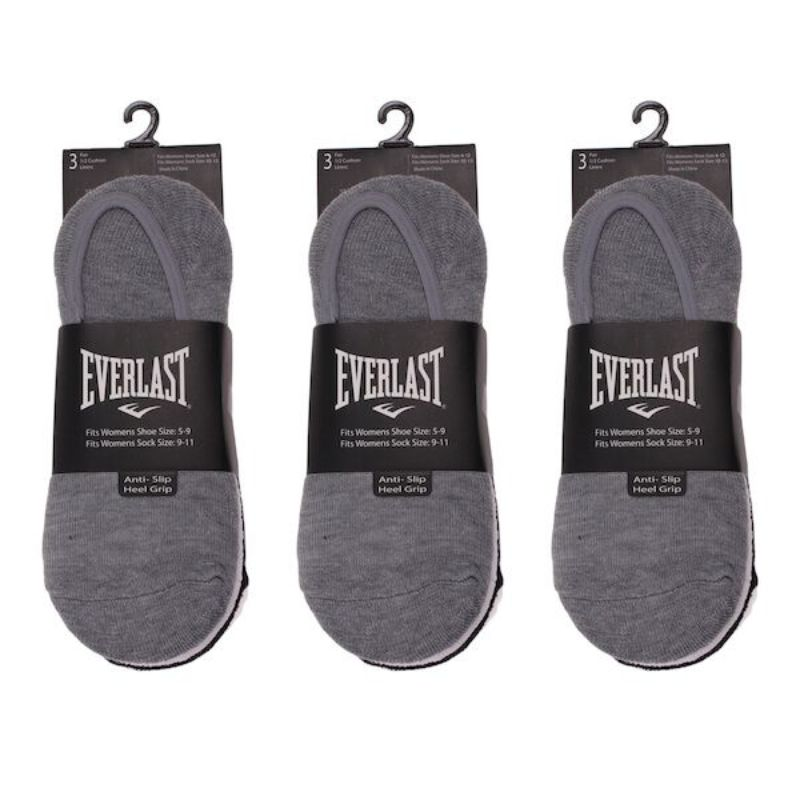 6 Pairs Men's Everlast Assorted Half Cushion Liner Sock-Daily Steals