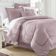 6 Piece Set: Chevron Embossed Comforter Set-Rose-Queen-Daily Steals