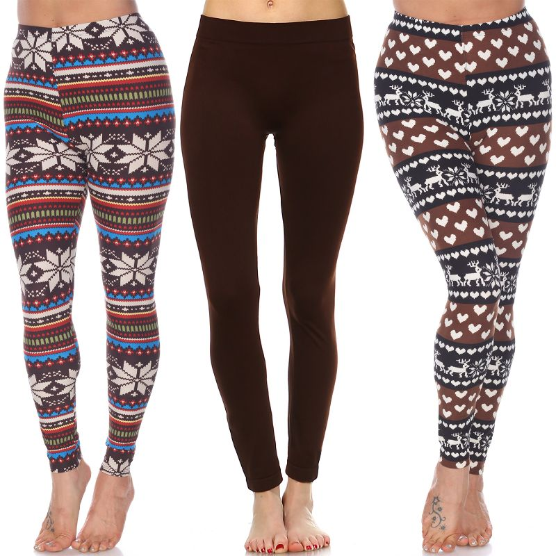Women's Everyday Leggings by Whitemark - 3 Pack