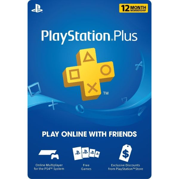 12 Month Playstation Plus PSN Membership Card - 1 Year (Email Delivery)-Daily Steals