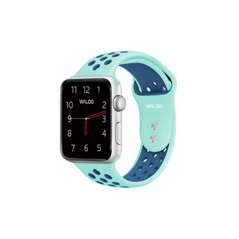 Waloo Breathable Sports Band For Apple Watch Series 1-5-Aqua/Blue-38/40mm-Daily Steals