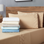 Forever Soft Collection Diamond Hem Ultra-Soft Sheet Set - Wrinkle-resistant-Daily Steals