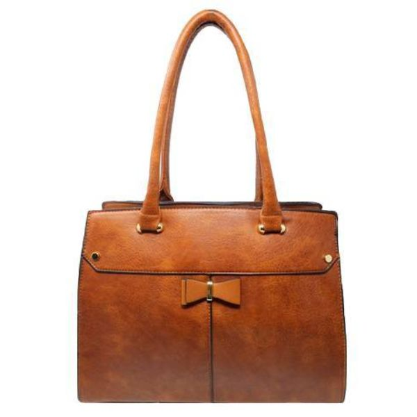 Women Leather Shoulder Vintage Tote Handbag-Camel-Daily Steals