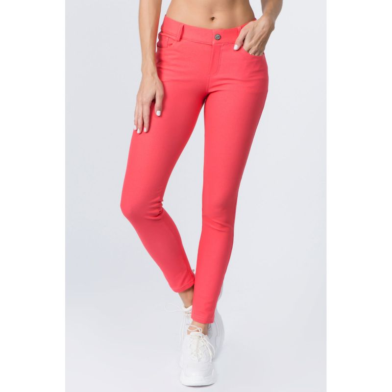 Ensemble de coton Jeggings-Coral-Large-Daily-Steals pour femme